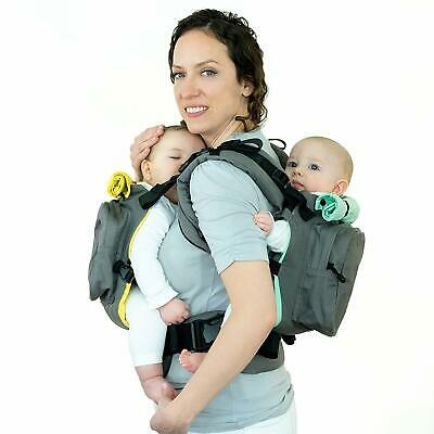 TwinGo Original Baby Carrier- Separates to 2 Single Carriers. Compact, Comfortab