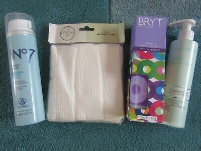 Bundle of hot cloth cleansers-no 7,formula m & s beauty,BRYT + pack of 3 muslin