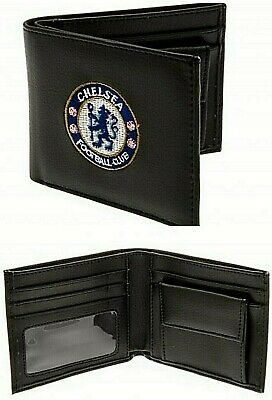 Chelsea Fc Embroidered Crest Football Leather Money Wallet Coin Cash Card Purse