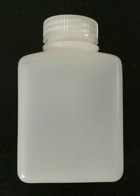 New One Thermo Scientific Nalgene Rectangular Bottle 250ml 8oz Wide Mouth HDPE