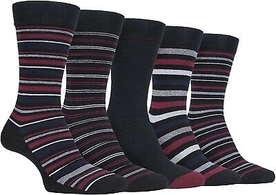 Farah 5 Pack Classic Gentle Grip Cotton Socks Striped Mix Size 6-11 BNIP