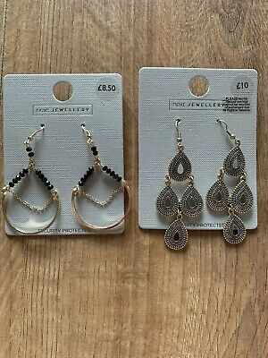 2 X Next Drop Dangly Earrings New Great Christmas Stocking Filler