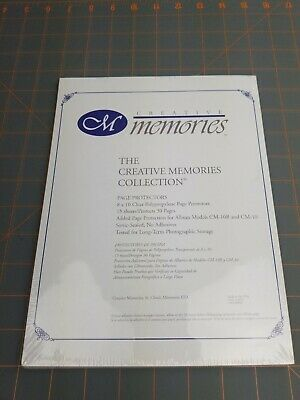 Creative Memories 8x10 Page Protectors 15 Sheets Protects 30 Pages NEW CM-10B 10