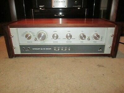Crown IC-150A IC-150 IC 150 A Pre amp Pre Amplifier Rare Woodcase 2 Phono Inputs