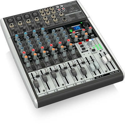 Behringer X1204USB Xenyx 12-Input 2/2-Bus Mixer with USB/Audio Interface