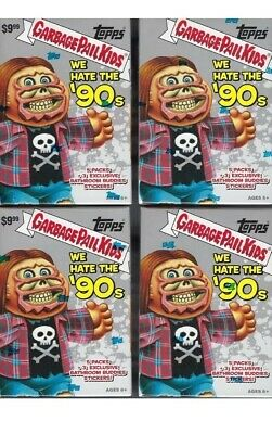 """2019 Garbage Pail Kids """"We Hate The '90's""""BLASTER BOXES! Lot Of 2!"""