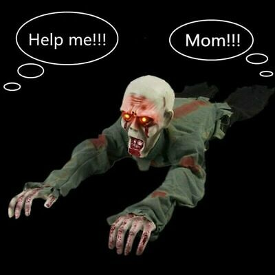 Horror Halloween Crawling Baby Zombie Prop Animated Haunted House Party Decor