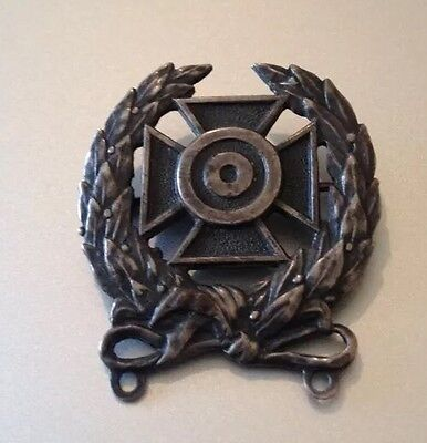 Vintage Military Sterling Silver WWII Badge Pin Medal Army