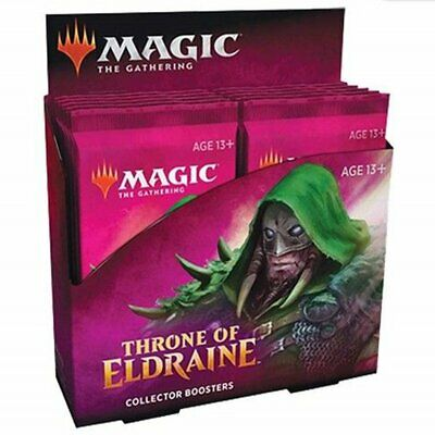 Magic the Gathering MTG Throne of Eldraine Collector Booster Box W/ 12 Packs