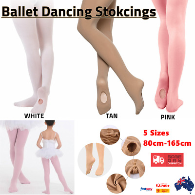 Ultra Soft Ballet Dance Transition Tights Convertible Tight Stocking Kids Adult