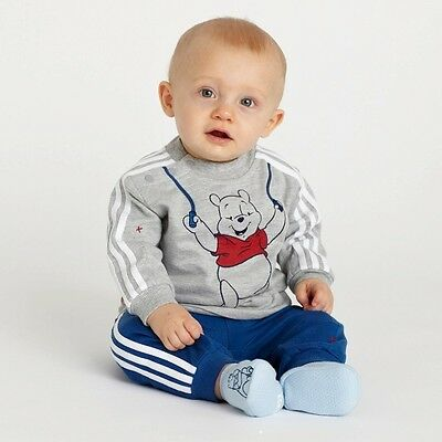 Kid Boys Toddler Baby Long Top Hoody+Pants Trousers Set Tracksuits Clothes Bear
