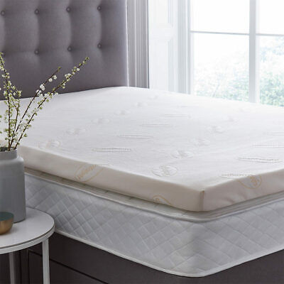 Silentnight 7cm Hypoallergenic Memory Foam Mattress Topper in 4 Sizes