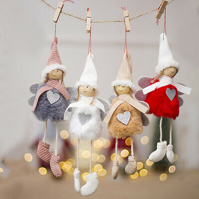 3 x Cute Pink Fluffy Skirt Fairy Angel Hanging Christmas Tree Decorations 18cm