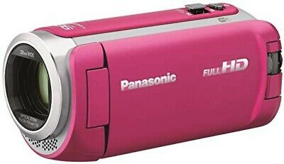 2019 NEW Panasonic HD camcorder 64GB wipe shooting pink HC-W590M-P from japan