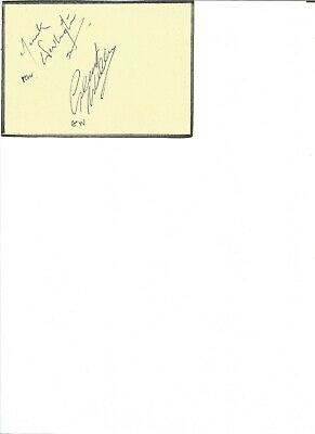 Frank Worthington & one other signed 5x4 inch on autograph. Footballers EL123