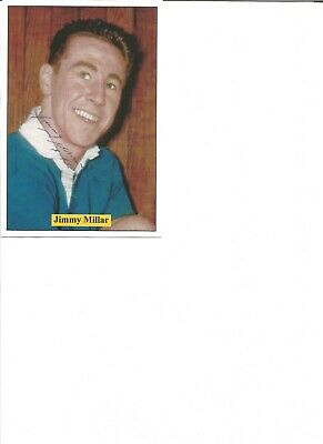 Jimmy Miller signed 6x4 inch colour photo card ,  football player EL128