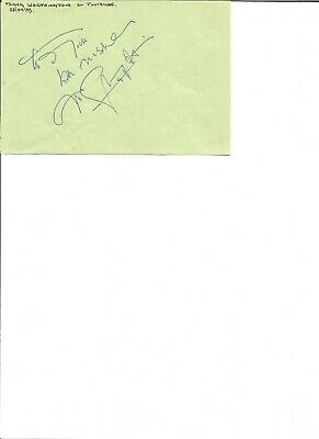 Frank Worthington  4x6 inch autograph piece, football player    EL143