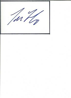 Tore Andre Flo 6x4 inch autograph piece, football player  EL164