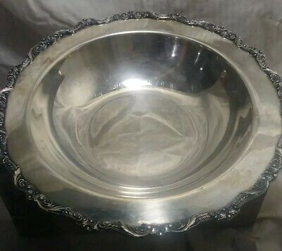 "Silver-plated Round Rim Footed Plate Bowl EPC Old English by Poole 12"" 5029 a6"