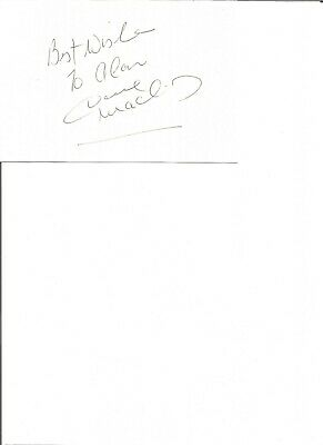Dave Mackay 6x4 autograph piece, former football player  EL246