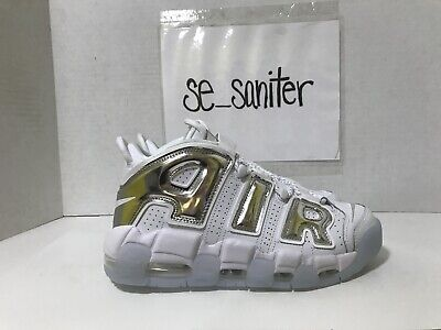 Nike Air More Uptempo W whitechromeblue tint Donna