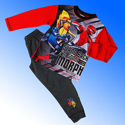 Boys NEW Official Power Rangers Pyjamas Age 4-10 Years