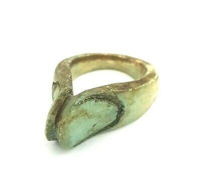 Royal Ring Thumb Figurine Egyptian Antique Amulet Faience Ancient Civilization