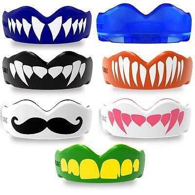 Boxing Mouth Guard MMA Martial Arts Gum Shield Rugby T6P3 Sports Teeth T4G8