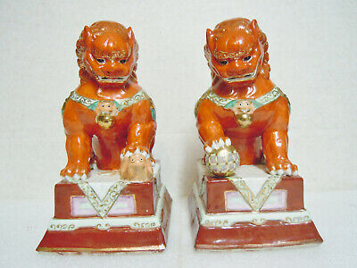 Pair of Chinese Foo Dogs Styled From the Forbidden City