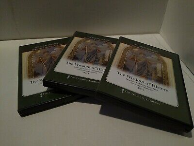 The Great Courses The Wisdom of History Parts 1-3 (18 Audio Cds) VG Free Ship