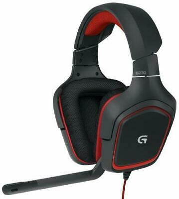 Logitech Stereo Gaming Headset G230 (981-000541)-Black/Red,Refurbished