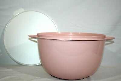 Tupperware Thatsa Mega Bowl 42-Cup Pastel Pink Delight , Huge Holiday,Party NEW