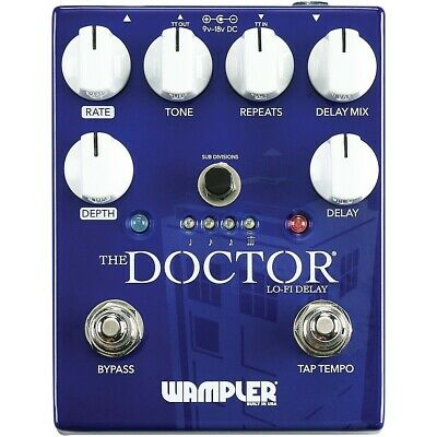 Wampler The Doctor Lo-Fi Delay Effects Pedal 190839761040 Open Box