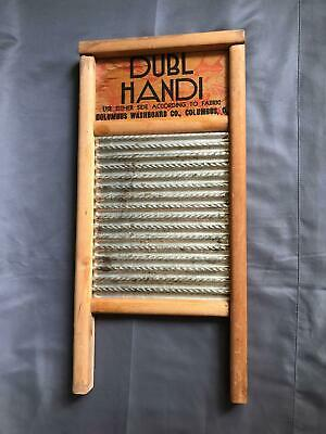 "Vintage Washboard Hand Wash Dubl Handi in Columbus Ohio Wooden 18"" High rd"