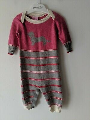 Peter Alexander Kids sz 6/ 9 Month Cashmere Lambswool pajama Suit AS NEW