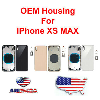 OEM Replacement Housing Back Frame Battery Door Glass For Apple iPhone XS Max