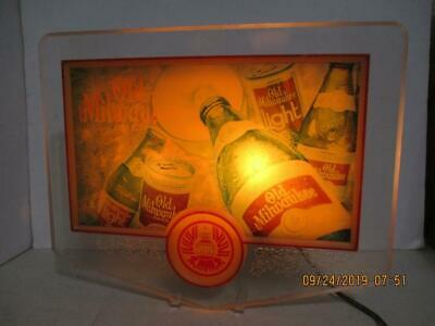 Vintage Electric Lighted Old Milwaukee Beer Sign Embosograph Display Mfg Co.