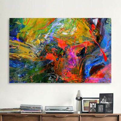 Abstract Graffiti Art Colorful Oil Painting Mural Colorful Wall Art Frameless