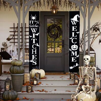 Halloween Decorations Outdoor, Welcome Halloween Banners and Signs, Witch Decor