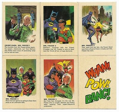 1966 Batman Weeties & Rice Krinkles Mr. FREEZE Set of 5 plus Bonus