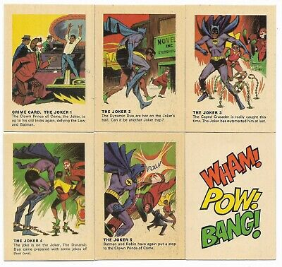 1966 Batman Weeties & Rice Krinkles The JOKER Set of 5 plus Bonus