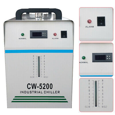 220V CW-5200DG Industrial Water Chiller for One 130W/150W CO2 Glass Laser UK