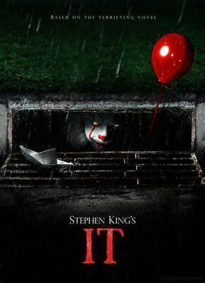 IT MOVIE POSTER Pennywise Stephen King Art Silk Poster 12x18 24x36