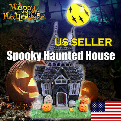 Halloween Decoration Spooky Haunted House Flashing Lights Sound Motion Sensor US