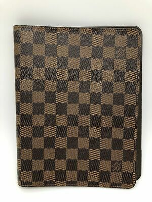 AUTHENTIC LOUIS VUITTON Monogram Agenda GM DAY PLANNERS COVER Damier