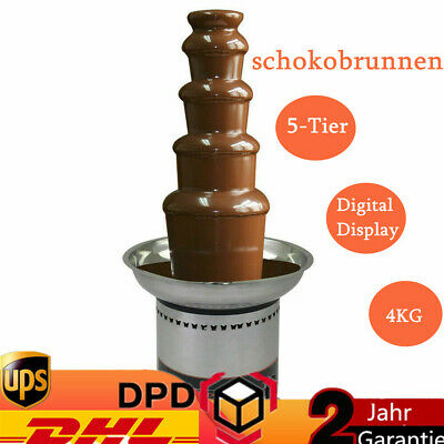 Commercial Chocolate Waterfall 5 Tiers Chocolate Fountain Digital Display 4kg