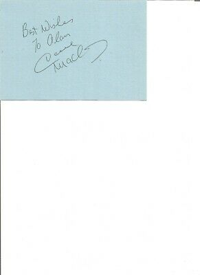 Dave Mackay 6x4 inch autograph piece,  former football player EL318