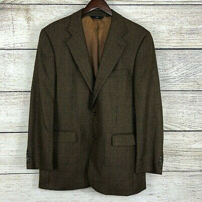 Brooks Brothers 346 Wool Mens Size 42Long Houndstooth Brown Blazer/Sport Coat