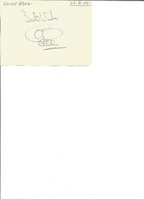 Clive Allen 6x4  inch autograph piece,  former football player EL333