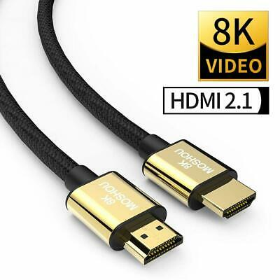 HDMI 2.1 8K Cable support 4k@120HZ 8K@60HZ Full HD HDTV 3D HDCP 2.2 Dolby Atmos